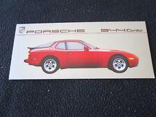 1987 Porsche 944 Turbo Mailer Brochure 951 detail Options & Equipmnt Sales Sheet