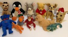 Beanie Babies & Other Plush Items - Lot of 12 + Bonus Emoji - pre-owned & Good