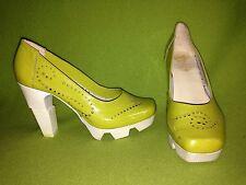 Neon Yellow Prophecy Heels 6 36
