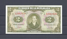 COLOMBIA BANKNOTES $2 1944 8 DIGITS