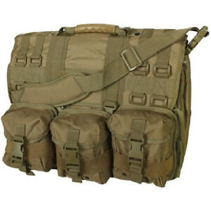 Coyote MOLLE Tactical Military Laptop Field Briefcase Shoulder Bag Heavy Duty