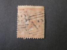 JAMAICA, SCOTT # 4, 4p. VALUE BROWN ORANGE QV.1860-63 ISSUE USED