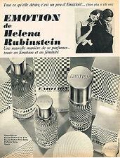 PUBLICITE  1967   HELENA RUBINSTEIN   parfum EMOTION