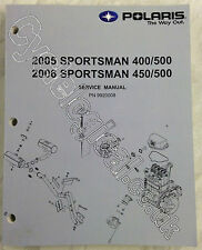 Polaris Sportsman ATV 400/450/500 2005-2006 Genuine Service Manual P/N 9920008