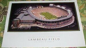 GREEN BAY PACKERS Aerial View Photo~ LAMBEAU FIELD Football Stadium NFL Poster