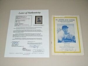 Cy Young signed St. Joseph High School Program MLB HOF JSA LETTER Bob Feller