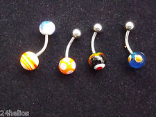 Lot de 4 PIERCING pour Nombril /  Bijoux de corps