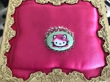 Tarina Tarantino Pink Head Hello Kitty Cameo Crystal AB Swarovski Beaded Ring