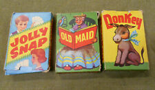 #Cc. Three(3) Packs Of Tower Press Playing Cards - Old Maid, Donkey, Snap