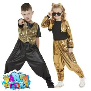 Kids 1980s Hammer Time Costume Music World Book Day Childs Fancy Dress Outfit