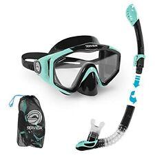 New listing Seaview 180° Kradan Snorkel Set. Wide View Panoramic Tempered Glass Diving Snork