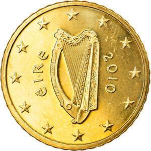 [#830156] IRELAND REPUBLIC, 50 Euro Cent, 2010, Sandyford, SPL, Laiton, KM:49