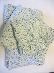 Floral Country Chic Queen Ruffled Flat & Fitted Sheet & Pillow Case