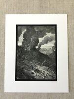 1870 Originale Foresta Fuoco Burning Woodland Atala Chateaubriand Antico Stampa