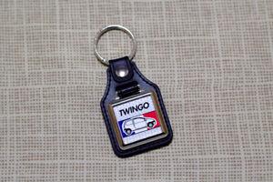 Renault Twingo Keyring - Leatherette and Chrome Keytag