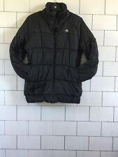 WOMENS URBAN VINTAGE RETRO STYLE BLACK ADIDAS PUFFER COAT JACKET SIZE UK 16/18