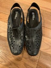 White Mountain Womens Shoes 9 Black Floral