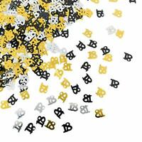 Black Gold & Silver 18th Birthday Party Table Confetti Decorations Age Sprinkles