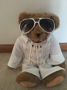 Elvis Presley Love Me Tender Plush Bear Vermont Teddy Bear Co. Used