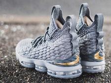 Nike LeBron James XV 15 CITY PACK WOLF GREY GOLD METALLIC 897648-005 sz 11