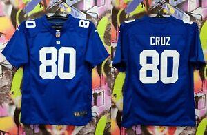 New York Giants Victor Cruz #80 NFL Football Jersey Shirt Top Nike Youth Size L