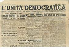 L'UNITA' DEMOCRATICA 27 MAGGIO 1946