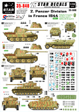 Star Decals 2nd Panzer Division Panzer in France 1944 Pt.1  1/35 decals