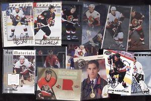 OTTAWA SENATORS JERSEY AUTOGRAPH NHL HOCKEY CARD SEE LIST