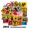 50Pcs Warning Sign Stickers For Skateboard Luggage Laptop Car Decals Cxz #mi
