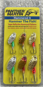 Panther Martin HAMMERED 6 Pack Hammer The Fish 2 Sizes 6 Spinners All New