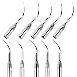 10 * Dental Ultrasonic Piezo Scaler Scaling Tips G2 Fit EMS/WOODPECKER Handpiece