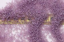 Vintage French 13/0  Glass Seed Beads Opal Violet #2 / 1/2oz