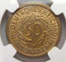 Rarität! 50 Rentenpfennig 1923 J in Stempelglanz NGC Top Pop MS66 Selten !!!