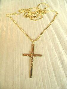Großes Gold- Kreuz Neu mit Gold- Kette, Kreuz-Anhänger, 585 Gold