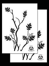 "2 Pack! Vinyl Airbrush Camo Stencils 14"" 10 Mil - OAK - LEAFY OAK Camouflage"
