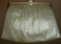 Andè GOLD LAME/METALLIC VINTAGE PURSE~CLUTCH~HANDBAG~RETRO~PRETTY~GLAM~GAY~FUNKY