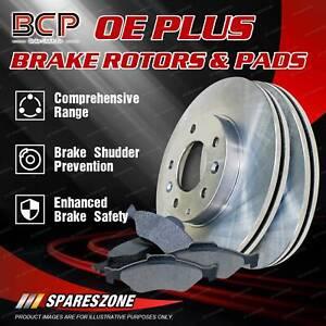 BCP Rear Brake Pads + Disc Brake Rotors for Nissan 280 ZX ZXT HGS130 2.8L 85mm
