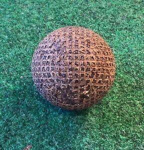 ANTIQUE COLLECTIBLE LINE CUT GUTTA PERCHA GOLF BALL - C 1895
