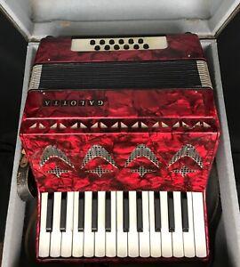 Galotta 12 Bass Accordion. Good Condition With Original Case