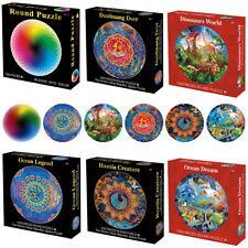 UK Jigsaw Puzzle 1000 Piece Colorful Rainbow Round Educational Puzzle Adult Toys