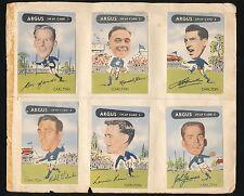 1954 Argus cards Carlton Team Set  X 12 card Ken Hands John James