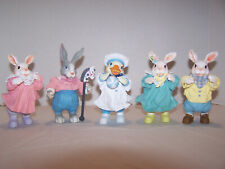 5 Midwest Importers Cannon Falls Resin Easter Bunnies & Duck Collectible Vintage