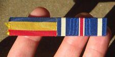 "WW2 USN Navy Unit Citation DFC Distinguished Flying Cross 1/2"" Ribbon Bar WB"