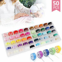 Bobbin Case Organizer w/50 Clear Sewing Machine Bobbins and Assorted for Brother