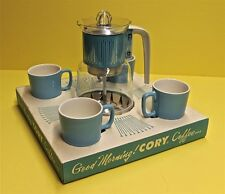 Vintage Original CORY COFFEE Service Set in Box ~ Percolator Cups 1950s Mint
