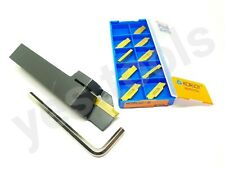 16mm Indexable Parting Off Tool Right Hand Lathe + 10 2mm Korloy Inserts