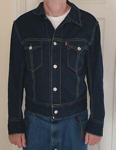 Levis Dark Denim Mens Jacket VGC 70901 1043 Size XL From 1990's