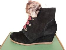 be289e5dd0a Clarks Lumiere Spin 4 Black Suede Zip   Lace Ankle BOOTS UK Size 4d. Eu37