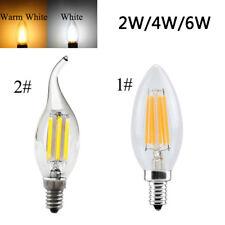 E14 2/4/6w Edison COB filamento Retro Luz Led Vela / Llama Bombilla