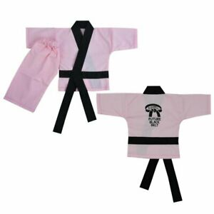 Playwell Baby Infant Taekwondo Uniform Suit Pink TKD Future Black Belt Babies